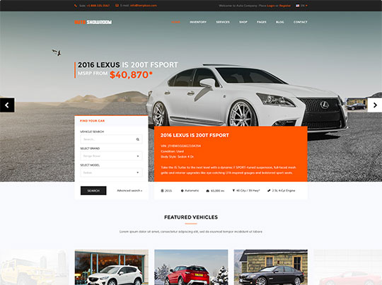 Auto Showroom - Car Dealership V3