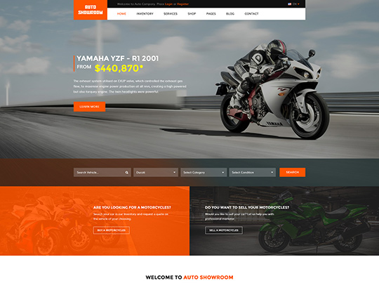 Auto Showroom Motorbike