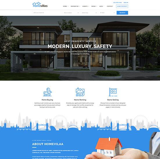 Template Wordpress Jual Rumah 1